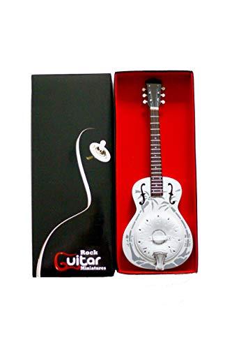 rgm181Marc Knopfler hermanos en armas dire Straits miniatura guitarra, incluye correa de piel Para Guitarra