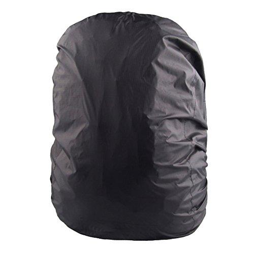 WINOMO Imperméable à l'eau à dos pluie couvrir élastique réglable pour plein air voyage équitation climbing(noir)