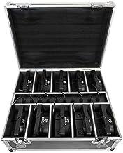 Rockville Battery PAR Pack 50 Black (10) Rechargeable Wash Lights+Charging Case