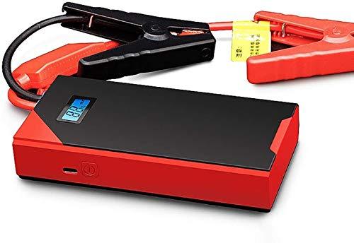Metdek Arrancador portátil externo de 12000 mAh 800 A con pantalla digital de 6 L de emergencia para coche, cargador de batería con carga USB, lámpara LED