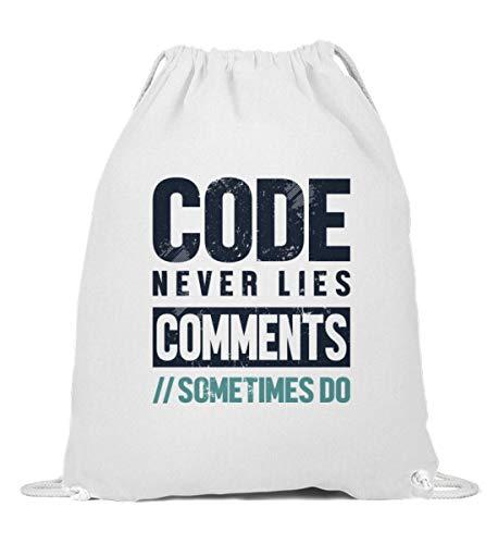 Backend Entwickler Frontend Full Stack Turnbeutel | Code Never Lies Gymsac