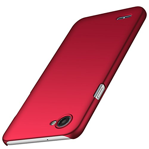 Anccer Funda LG Q6 [Serie Colorida] [Ultra-Delgado] [Ligera] Anti-rasguños Estuche para Case LG Q6 (Rojo Liso)