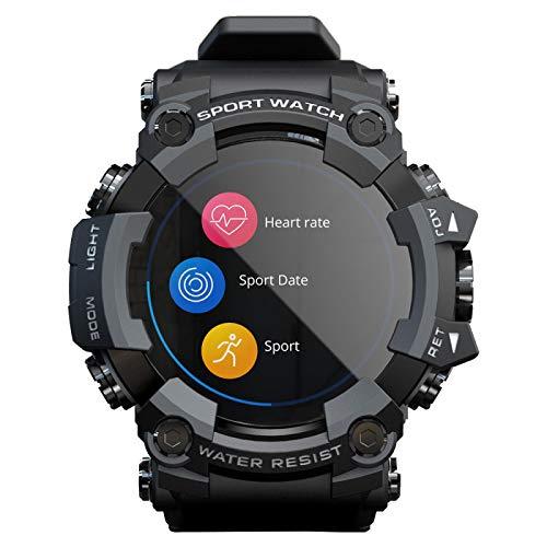 xiaoxioaguo Reloj inteligente de pantalla táctil de los hombres de la aptitud de los deportes reloj inteligente para Android IOS simple reloj deportivo para los hombres Negro