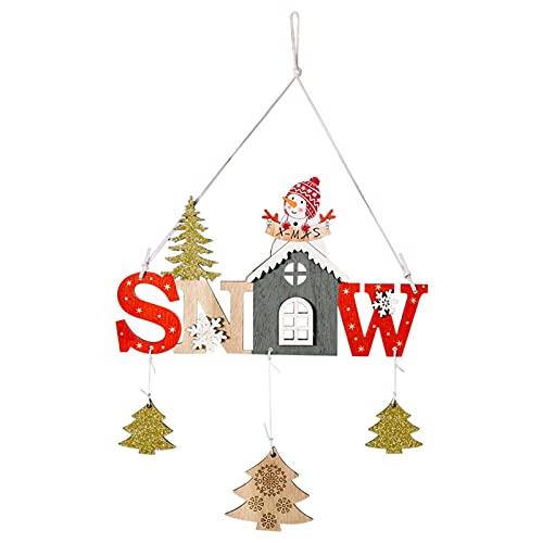 monshop Colgantes De Madera para Navidad Adornos Navideños Arbol Colgantes Adornos Navideños De Madera Decoración De Fiesta De Cumpleaños De Bebé De Navidad para Niños Niñas