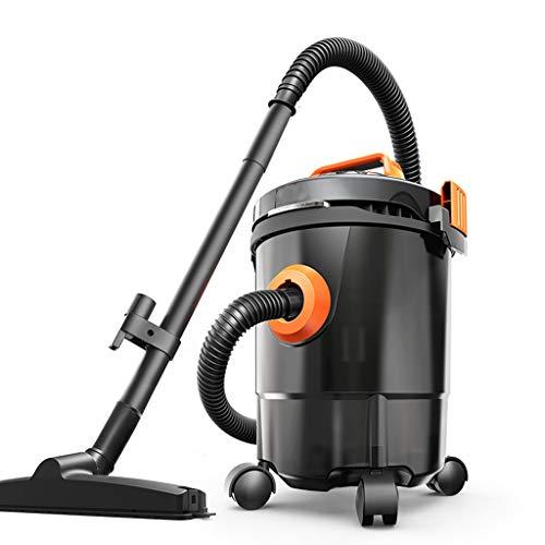 Huishoudelijke stofzuiger/barilstofzuiger, droog & vochtig en blazer, hoog vermogen van 1200 W, 5 m lange netsnoer, geluidsarm/sterk, veiligheidsring-technologie (zwart)
