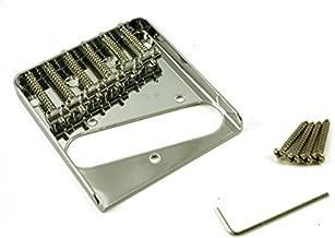 WD Music Vintage Telecaster 6 Saddle String-Thru Body Guitar Bridge