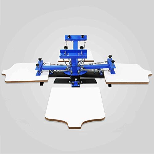 LWQ 4 Farbe Station 4 Siebdruck Presse Siebdruckmaschine Für T-Shirt DIY Druck Removable Pallet