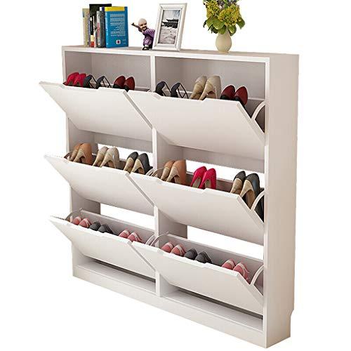 Liutao Zapateras Estante para Zapatos, Porche Ultrafino a Prueba de Polvo Gabinete para Zapatos Estante de Zapatos de Madera de...