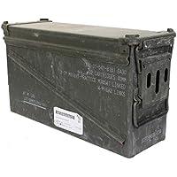 Masiva texto original en utiliza caja de munición el U.S. Army para 32 Cartuchos Calibre 40 mm Caja de metal Caja Mun Envase Caja de Metal