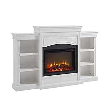 Ameriwood Home Lamont Mantel Fireplace White,1815096COM