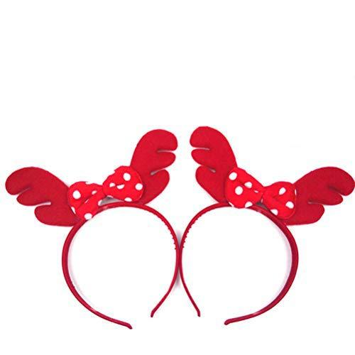 2 bandas para el pelo, tocado de animales, cuernos para cosplay, diadema, accesorios para Halloween, Navidad, cosplay