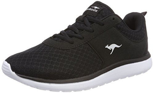 KangaROOS Bumpy Sneaker Damen, Schwarz(Jet Black 5001), 40 EU