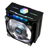 Zalman CNPS10X Optima II Black, High Performance CPU Cooler with RGB - Ultra Quiet 120mm Fans, 4 Heatpipes, 180W TDP (White LED Fan, Black)