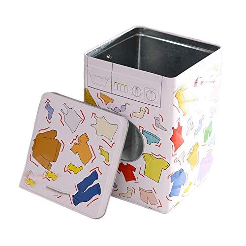 Katigan Caja de Hierro de Lavadora de Color, Caja de Polvo de Lavado PortáTil, Lata de Hierro, Caja de Almacenamiento, Cubo de Almacenamiento, PrevencióN de OxidacióN