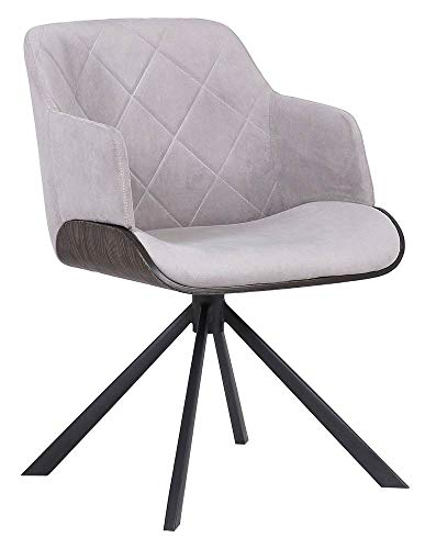Armen Living Dining Chair in Walnut Glazed Finish
