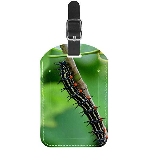 Etiquetas de equipaje de cuero Caterpillar para maleta de viaje, 1 paquete