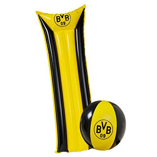 Borussia Dortmund Strandset Luftmatratze und Wasserball BVB 09 (L)