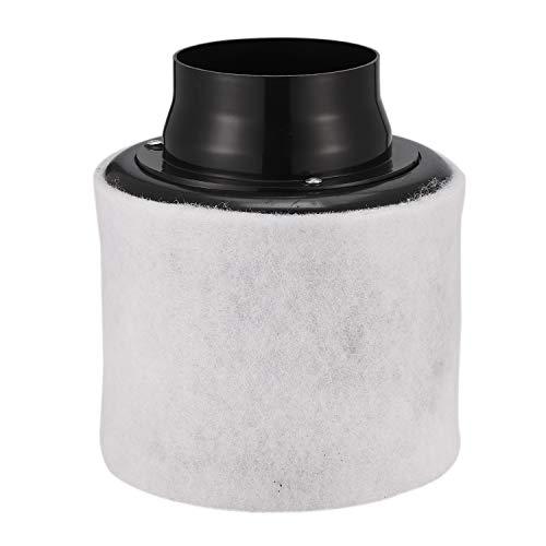 Facibom Purificador de aire con filtro de carbono de 10 cm con prefiltro para ventilador en línea hidropónico, verde, para jardinería, tienda de cultivo, ventilación de 100 mm