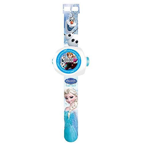 Armbanduhr Elsa Die Eiskönigin II mit Projektor 20 Figuren, Elektronische Armbanduhr Projektion Kinder Mädchen