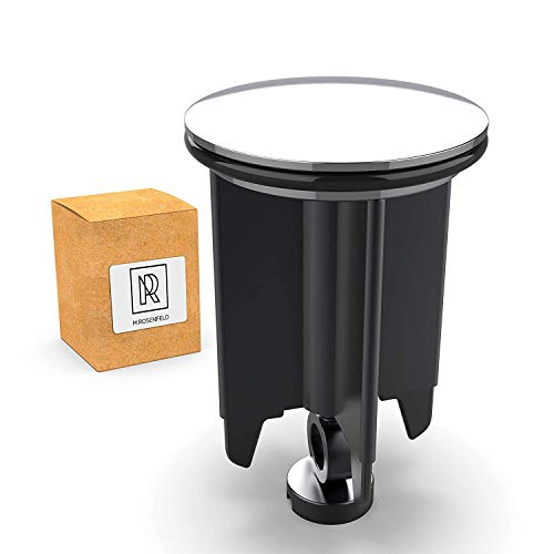 Universal M. ROSENFELD Waschbeckenstöpsel 40mm Chrom Abflussstopfen – aus Messing, universal mit Gummi für Waschbecken im Bad und Bidets - Excenterstopfen - Höhenverstellbar, Rostfrei & Dicht