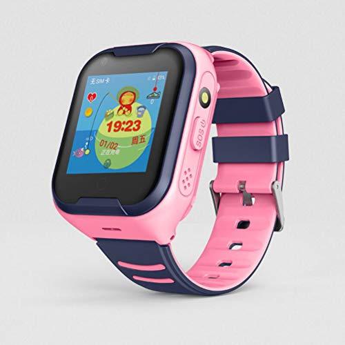 A36 Kids GPS Smart Watch 4G Uhr für Kinder Uhr Wmart Child Clock mit WiFi Standort SOS Call Tracker Gerät IP67,Pink