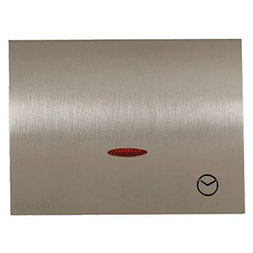 Niessen olas - Tapa interruptor temporizado serie olas acero pulido