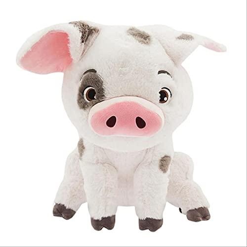 XIYUANG 22cm/8.6 Inch Moana Pet Pig Pua Plush Toy, Cute Cartoon Plush Toy Doll, Soft Plush Doll For Children's Birthday, Christmas, Halloween, A Good 22cm/8.6in White