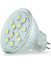 4VWIN MR11 GU4 LED-ljus Blub 1,8 W 140 lm varm vit 12 V motsvarar 15 W halogenlampor (varmt vit, 10-pack)