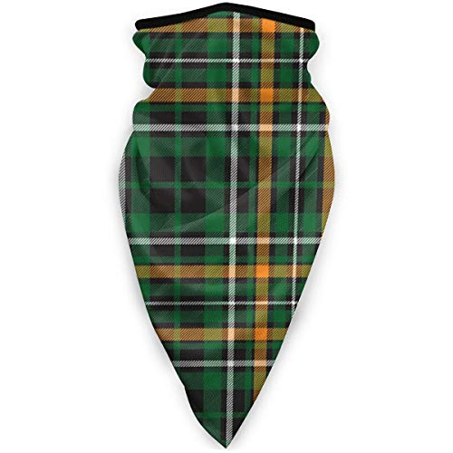 iuitt7rtree Windproof Celtic-fc-green-tartan-seamless-pattern-fabricBalaclava hat face mask outdoor scarf cycling motorcycle scarf windproof UV protection