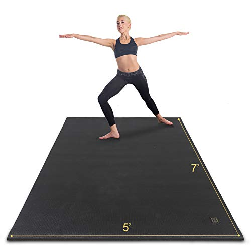 Gxmmat Large Yoga Mat For Viniyoga Non-Slip 7'x5'x9mm,Thick Workout Mats for Home Gym Flooring,Extra Wide Exercise Mat for Men and...