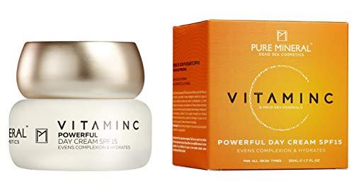 Pure Mineral Vitamin C Tagescreme mit Reinen Totes Meer Mineralien Natürliche Feuchtigkeits und...