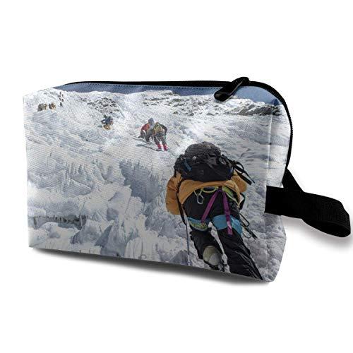 with Wristlet Cosmetic Bags Mountain Ice Climbing Boots Travel Portable Makeup Bag Zipper Wallet Hangbag