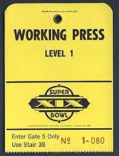 Super Bowl XIX Press/Media Pass Miami Dolphins vs. San Francisco 49ers 127746