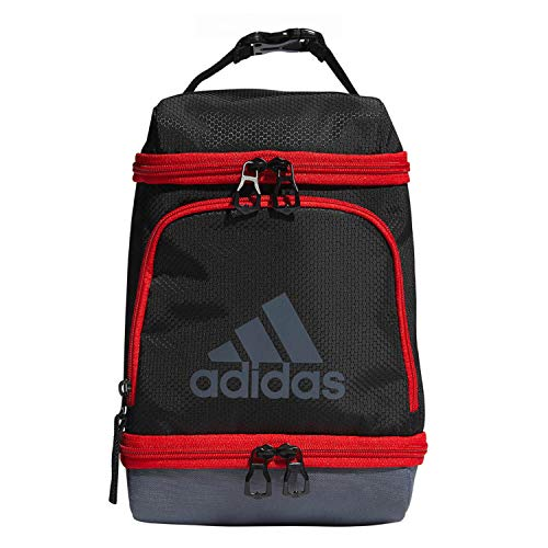 adidas Unisex Excel Insulated Lunch Bag, Black/Active Red/Onix, ONE SIZE