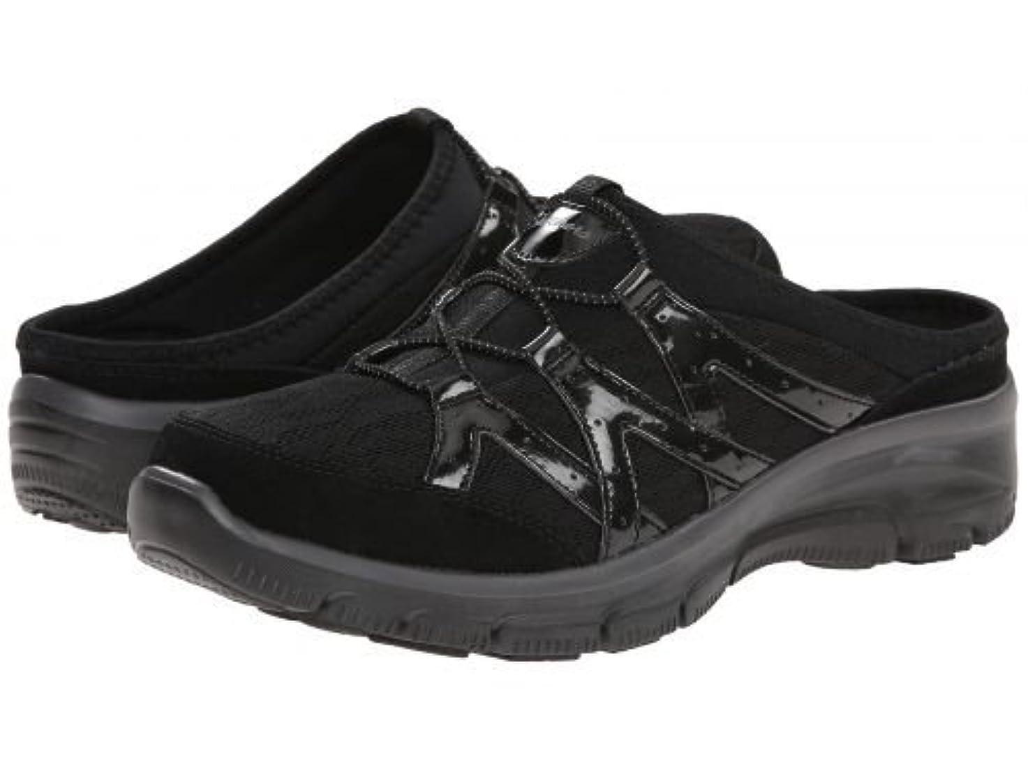段落放牧する見てSKECHERS(スケッチャーズ) レディース 女性用 シューズ 靴 スニーカー 運動靴 Easy Going - Repute - Black [並行輸入品]