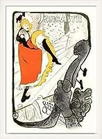 ポスター アンリ ド トゥールーズ ロートレック Jane Avril 額装品 ウッドベーシックフレーム(ホワイト)