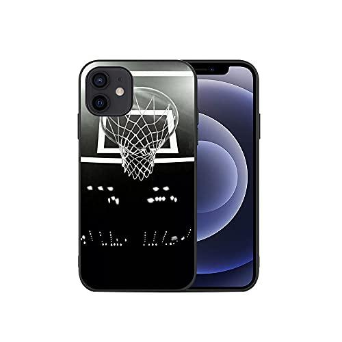 JINGJINGJIAYOU Caja del teléfono de Baloncesto, para iPhone 12 11 Pro MAX Mini XS 8 7 6 6S Plus XR, TPU Funda de Silicona-baloncesto4_iphone7 / 8