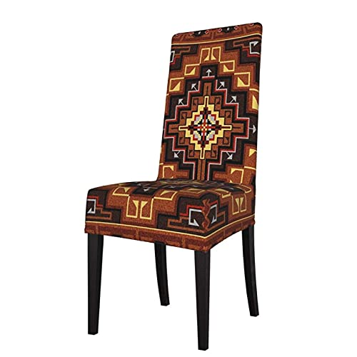 Fundas para sillas American Dakota Southwestern Cross Stretch Printed Stretch Silla de Comedor Protector Asiento Funda de Asiento para sillas
