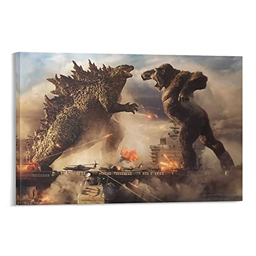 STTYE Godzilla Vs Kong 2021 Home Vintage - Lienzo decorativo para pared (20 x 30 cm)