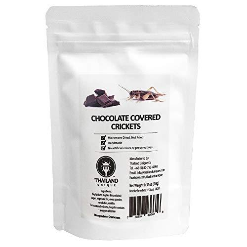 [昆虫食] チョコレート コオロギ Chocolate coated big crickets 10g TIU2002