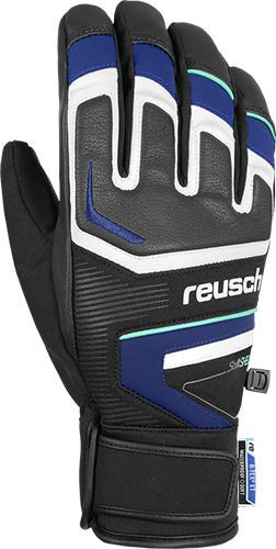 Reusch Thunder R-TEX XT - Guanti da uomo, colore: Nero/Blu