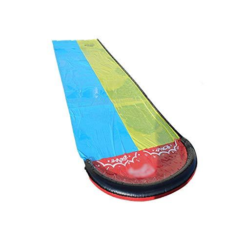 BZLLW Tobogán de Agua, Slip Lawn Agua y de Diapositivas, Diapositivas Doble Agua Silp pulverización y Crash Pad for niños de los Cabritos del Patio Trasero Juegos