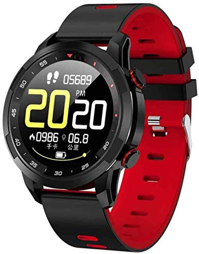 SHIJIAN Reloj inteligente y compacto, resistente al agua, 1.3 Full Touch, con ECG PPG presión arterial y frecuencia cardíaca, adecuado para Android 4.4/iOS 8.0, regalos para hombres y mujeres-B