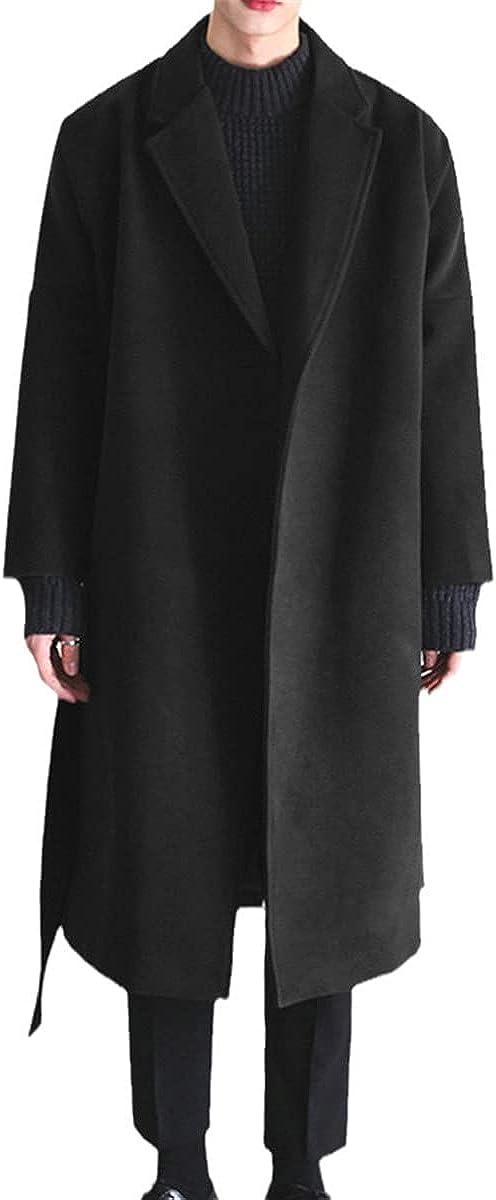 Winter Men's Jacket Warm Fake Wool Jacket Plain Long Sleeve Windbreaker Streetwear