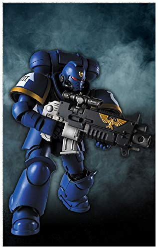Bandai Warhammer 40,000 Space Marine Ultramarine Primaris Intercessor Action Figure (Limited)