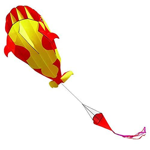 DorisAA Original Rainbow Kite For Children and Adults Línea única Cometas al Aire Libre 3D Software Ballena Cometa Animal de la Historieta con la manija (Color : Rojo, tamaño : Un tamaño)