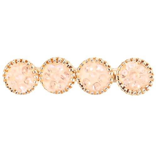 PXSTYLE Creative Trend Line Of Circle Épingles à cheveux pour femmes et filles portant quotidiennement la décoration de fête,Rose