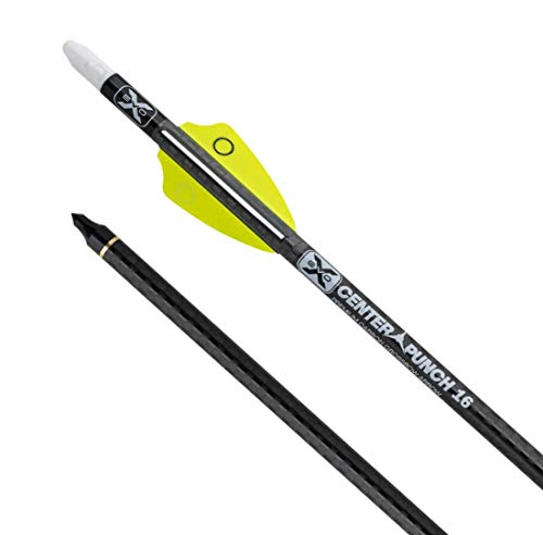 TenPoint EVO-X CenterPunch 16 Carbon Arrows, 16', w/Alpha-Nocks .001', 6 Pack
