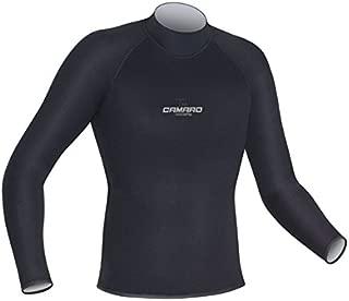 Camaro Titanium LS Shirt Wetsuits, Black/Silver, Medium
