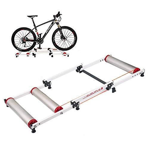 KFMJF Home Trainer Entraînement de vélo d'intérieur, Banc D'entraînement de vélo D'intérieur Pliable, Support pour 16-29 in en vélo de Montagne/Vélo de Route/Vélo Pliant